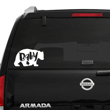 Baby Bear vinyl decal / Car/ Computer / Please Put Color in Note To Seller