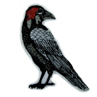 Death Raven Crow Patch Iron on Applique Alternative Gothic Clothing
