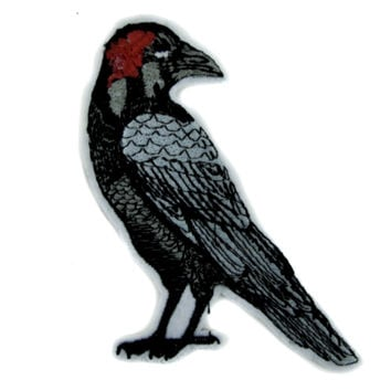 Death Raven Patch Iron on Applique Alternative Clothing
