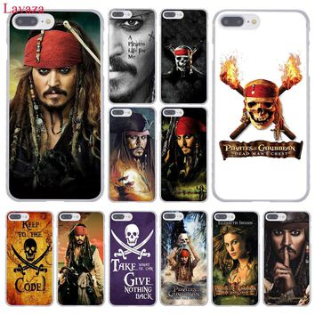 Lavaza Pirates of the Caribbean Johnny Depp Hard Phone Case for Apple iPhone 8 7 6 6S Plus X 10 5 5S SE 5C 4 4S