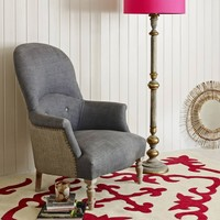 The Archie Armchair in Grey Linen