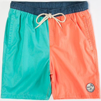 Vans Sloat Surf N Shorts Mens Volley Boardshorts Blue Combo  In Sizes