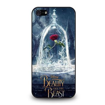 BEAUTY AND THE BEAST ROSE IN GLASS iPhone 5 / 5S / SE Case Cover