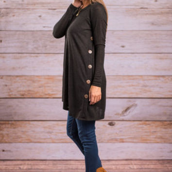 By Your Side Tunic, Black