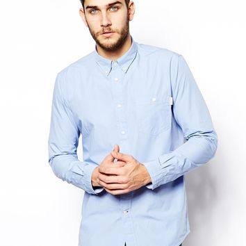 Paul Smith Jeans Shirt with Perforated Collar - Standard Fit