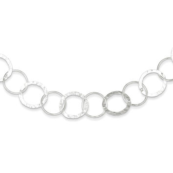 Sterling Silver 4mm Circle Link Necklace