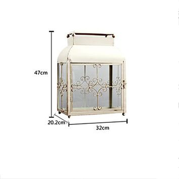 European Style Wrought Iron Lamp Candle Holder Wedding Road Metal Ornaments Courtyard Home Accessories Metal Candle Holder Stand