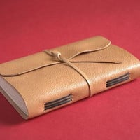 Leather Travel Handmade Small Notebook Sketchbook Medieval non adhesive bindings