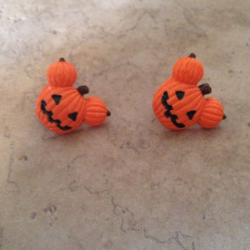 Halloween Jack O Lantern Inspired By Disneys Mickey Mouse Hypoallergenic Stud Earrings