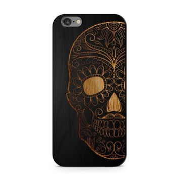 Black Bamboo - Half Sugar Skull Phone Case