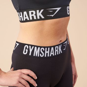 Gymshark Fit Cropped Leggings - Black/White