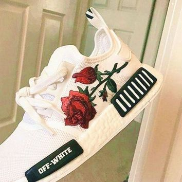 CREY9N Adidas Off-White Floral Embroidered Sneakers Sport Shoes G-CSXYQGCZDL-CY