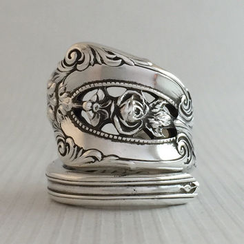 Size 6.5 Vintage Sterling Silver Spoon Ring