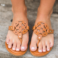 The Sky Is The Limit Sandals, Tan