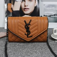 YSL Women Shopping Leather Chain Satchel Shoulder Bag Crossbody G-YJBD-2H