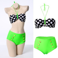Sexy Padded Push up Bra Bikini Set Swimsuit Bathing Suit Bandage Swimwear  F_F = 1902027588