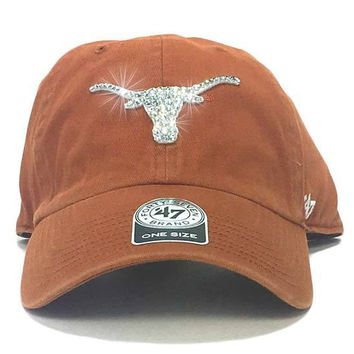 Texas Longhorns '47 Brand Adjustable Cap + Custom Swarovski Crystals