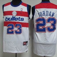 Best Deal Online Classic NBA Basketball Jerseys Washington Wizards #23 Michael Jordan White
