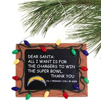 San Diego Chargers Chalkboard Sign Ornament
