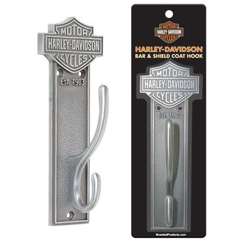 Harley Davidson® HDL-10137 Bar & Shield Coat Hook, Antique Pewter