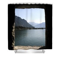 Through the windows Shower Curtain for Sale by Ivy Ho