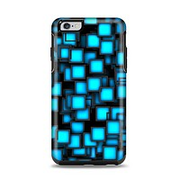 The Neon Blue Abstract Cubes Apple iPhone 6 Plus Otterbox Symmetry Case Skin Set