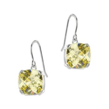 Cz By Kenneth Jay Lane Cushion Cut Canary Colored Cubic Zirconia
