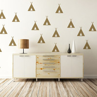Indian Tee Pee Wall Decal Rustic Decor Native American Nursery Decor Cabin Lodge Decor Teepee Tipi