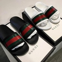 Trendsetter Gucci Woman Men Fashion Casual Sandals Slipper Shoes