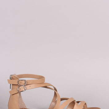 Breckelle Crossing Straps Thong Flat Sandal