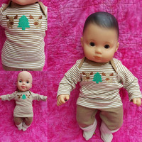 "15 inch Baby Doll Clothes ""Moose Time"" Will fit Bitty Baby® and twins playset top pants moose outdoors O4"