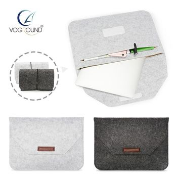 VOGROUND New Soft Sleeve Bag Case For Apple Macbook Air Pro Retina 11 12 13 15 Laptop Anti-scratch Cover For Mac book 13.3 inch