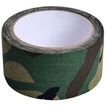1 Roll 5cmx5m Camo Outdoor Adhesive Duct Tape For Shoot War Game Wild Hidden Army Gun Decorative Bandage Hunting Camouflage Belt