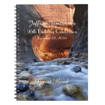 95th Birthday Party Guest Book, Zion Narrows Notebook