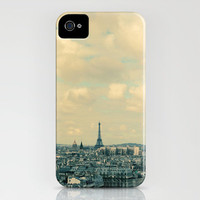 Paris In Blue iPhone Case by Alicia Bock | Society6