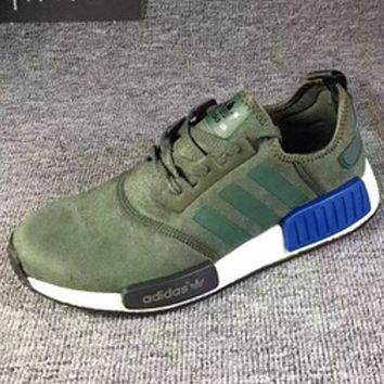 "Fashion ""Adidas"" Women Men Trending NMD Running Sports Shoes Army green"