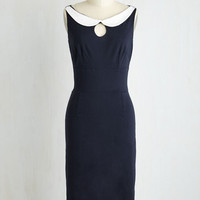 Long Sleeveless Sheath Retro Revival Dress