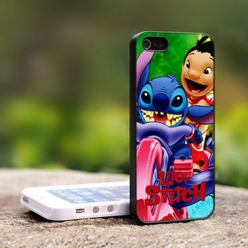 Disney Lilo And Stitch - For iPhone 5 Black Case Cover