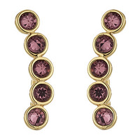 Rebecca Minkoff Gem Stone Climber Earrings Gold/Purple - Zappos.com Free Shipping BOTH Ways