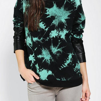 Lucca Couture  Mixed-Sleeve Tie-Dye Sweatshirt