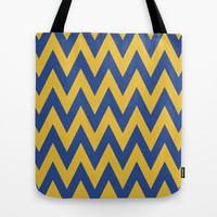 Team Spirit Blue and Gold Tote Bag by Team Spirit