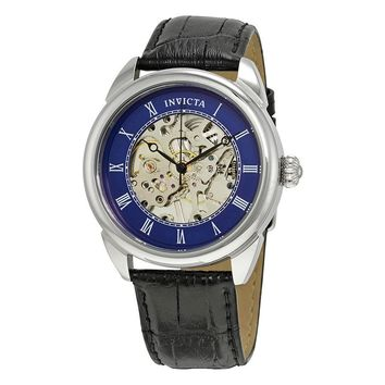 Invicta Specialty Mechanical Blue Skeleton Mens Watch 23534