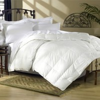 Egyptian Bedding 1200 Thread Count Queen 1200TC Siberian Goose Down Comforter 750FP, White 1200 TC