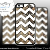 Monogram Iphone 5C case Camo White Chevron iPhone 5s iPhone 4 case Ipod 4 5 case Real Tree Personalized Country Inspired Girl