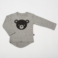 Hux Baby | Long Sleeve T shirt Bear Grey Marle