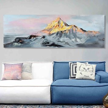 Handed Oil Painting Mountain