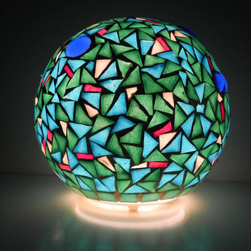 Turkey - mosaic table lamp, home decor, free shipping