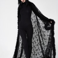 Dark Queen Lace Robe