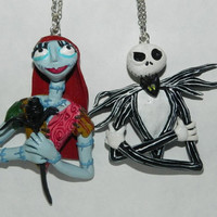 JACK AND SALLY NECKLACE SET, THE NIGHTMARE BEFORE CHRISTMAS