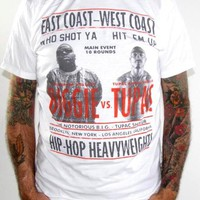 Tupac And Biggie T-Shirt - East Vs. West